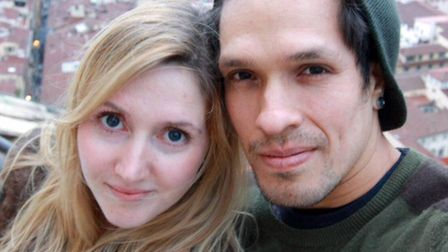 Caia Daly with her husband Carlos Abisrror. Picture: Caia Daly/PA Wire