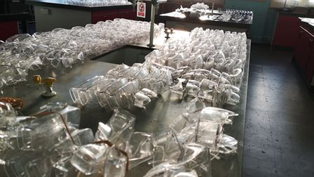 The North Road school has sent 280 safety goggles to the Whittington Hospital. Picture: Highgate Sch