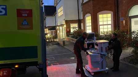Highgate Private Hospital's anaesthetic equipment being transferred to the NHS. Picture: Highgate Pr