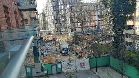 Construction work on Woodberry Down. Picture: Andrew Corley