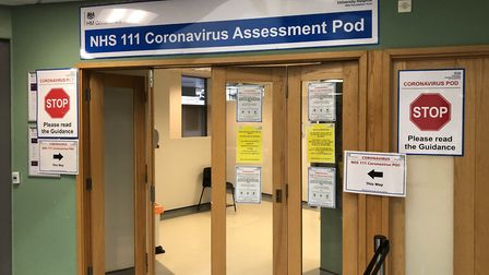 A pod has been set up near the main entrance to Homerton Hospital where patients should go if they