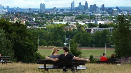 The view from Parliament Hill, where concerns of social distancing have been raised. Picture: Nigel