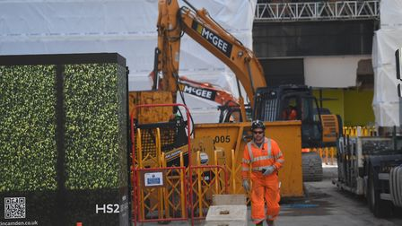 HS2 construction workers in Euston. Picture: Victoria Jones/PA