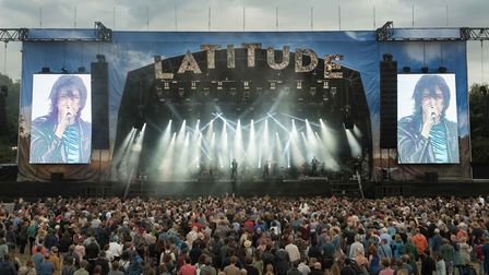 A scene from Latitude 2017 as The Horrors perform on the main stage. Picture: Paul John Bayfield