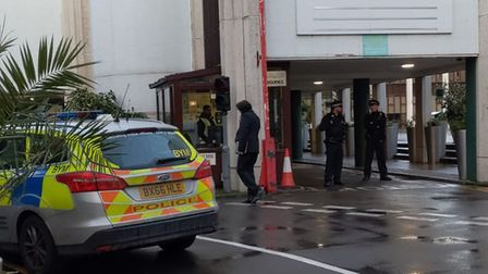 Central London Mosque in Regent's Park, where a man has been stabbed. Picture: Sam Volpe