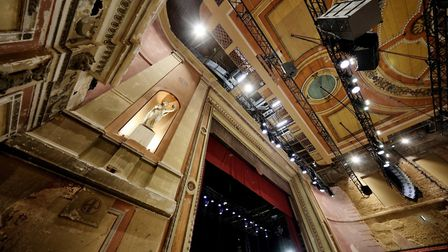 The proscenium arch. Picture: Alexandra Palace