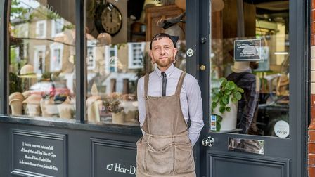 Justin Smith at his studio and salon in Southgate Road, London. Picture: Amelia Hallsworth/The Benyo