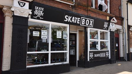 The Sk8box store in Lowestoft. Picture: Sonya Duncan