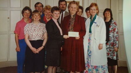 Mildmay Hospital staf with Helen Taylor-Thompsonf in the late 80s when it re-opened as an AIDs hospi