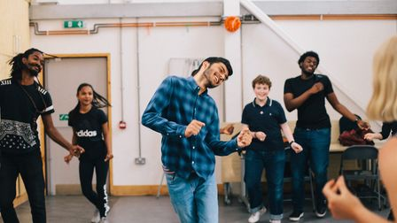 Members of the Yard's young theatre company Queen's Yard in rehearsal for their show Really Real Tee