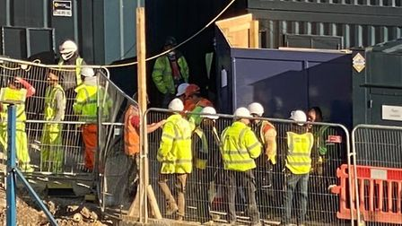Some construction workers are faced with contracting coronavirus - or going without pay. Picture: Jo