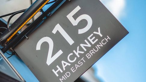Middle-eastern inspired restaurant and cafe 215 Hackney on Stoke Newington High Street is partnered