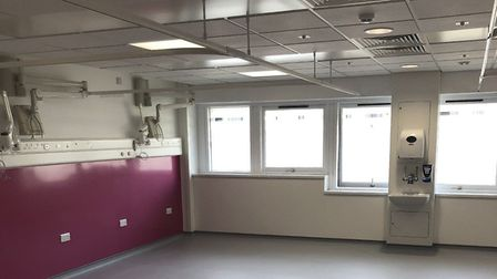 Homerton's recently refurbished Audley ward, which is now taking in coronavirus patients. Picture: H