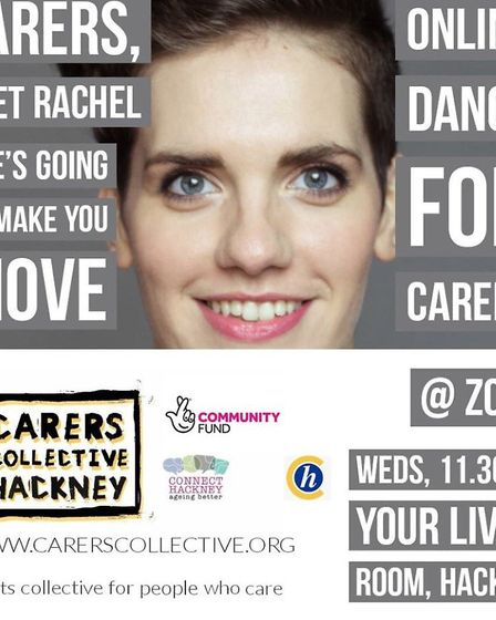 Dance teacher Rachel Sparks hosts the online dance sessions and ran a course for Hackney Carers last