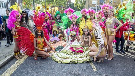 Paraiso School of Samba at Hackney Carnival 2019. Picture: Andy Commons