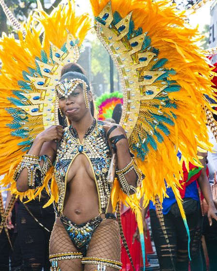 Performers in the Hackney Carnival 2019. Picture: Andy Commons