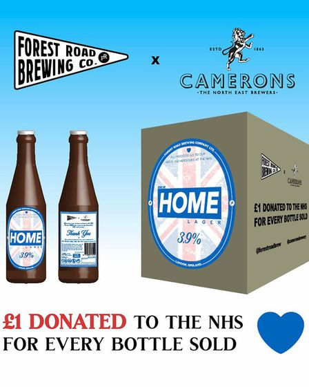 Forest Road Brewery has launched Stay Home lager to support NHS staff. Picture: Forest Road Brewing