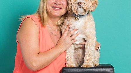 Shiva Bernheim with therapy dog Rolo. Picture: Royal Free London