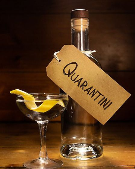 Gin and vodka-based �quarantinis� are on the menu. Picture: William Borrell