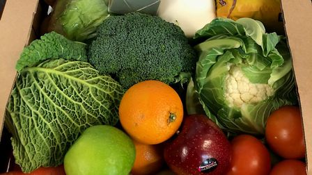 A basic food box costs �29. Picture: Nick Letchford