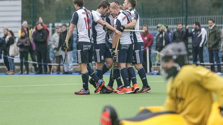 Rupert Shipperley celebrates against Beeston (pic Mark Clews)