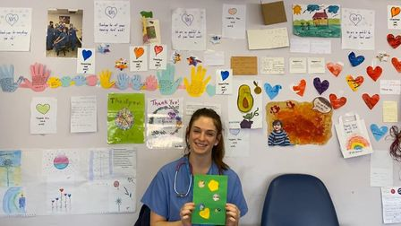 Staff at St Mary's Hospital have also been given cheering picture's of support drawn by Maida Vale's