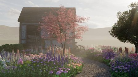 Visual of The Violette Szabó garden, due to be built at the RHS Malvern Spring Festival 2020. Pictur