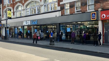Brent Council says supermarkets must take responsibilty for managing their queues. Picture: Joh Sayn