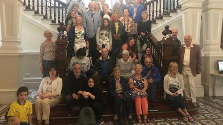 Members of the Lowestoft and Plaisir Twinning Association were welcomed to Great Yarmouth Town Hall
