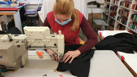 Production in action. Picture: Universal Dry Cleaners