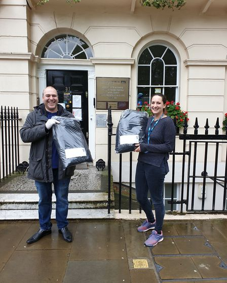 Scrubs delivery to Fitzrovia Medical Centre. Picture: Universal Dry Cleaners