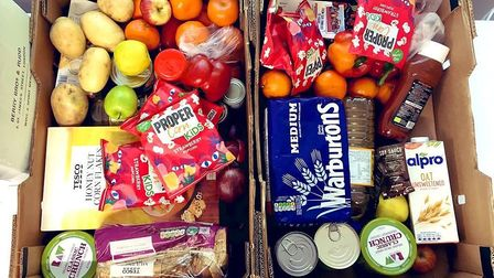 An example of the food given out by Cooperation Kentish Town. Picture: Cooperation Town