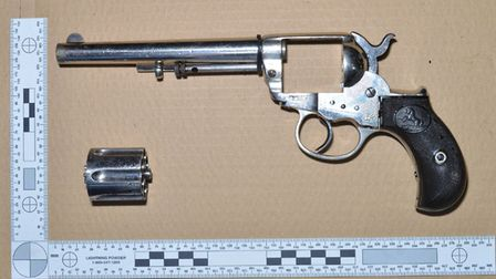 The gun taken to the party. Picture: Met Police