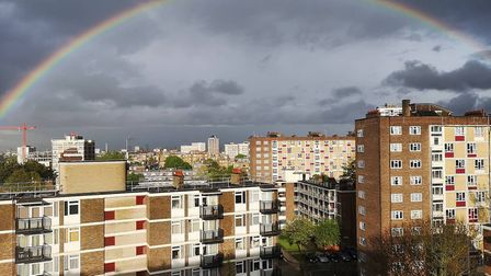 A rainbow over Hoxton. Picture: Naomi Clark
