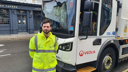 Andrew from the recycling collections team. Picture: Veolia