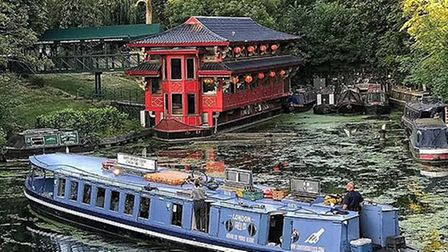 London Shell Co. A floating restaurant on the Regent's Canal. Picture: London Shell Co