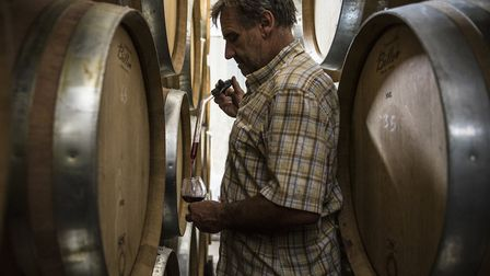 Denis Valdenaire, the oThe only remaining vigneron in the village of Russilly near Givry. Picture by