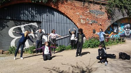 Students from Fortismere School who recorded the song. Picture: BonaFide Studio