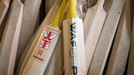 Handmade cricket bats at a workshop at Warsop Stebbing in East Hanningfield, Essex. The ECB, the gov