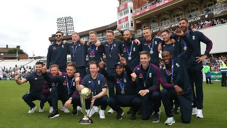 England celebrate winning the World Cup
