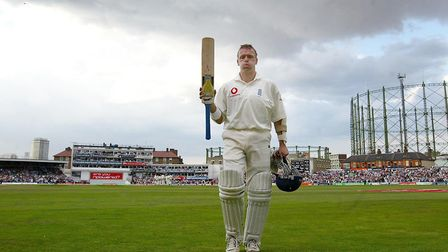 England's Alec Stewart leaves the field after being given out lbw to South Africa's Shaun Pollock, d