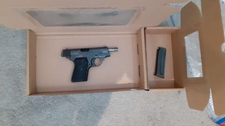 The .32 calibre pistol recovered from the property in Hornsey High Street. Picture: National Crime A