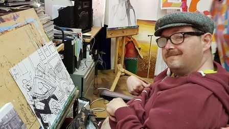 Camden artist Tony Brooks, 52. is a member of Headway East and has developed his art skills at the c