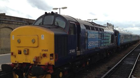 Class 37 train at Lowestoft Station. Picture: Abellio Greater Anglia