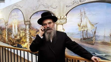 Rabbi Avraham Pinter, the Principal of the Yesodey Hatorah Senior Girls School in Stamford Hill. Pic