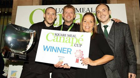 Staff from Boulevard Events after winning an award. Picture: Daniel Maher