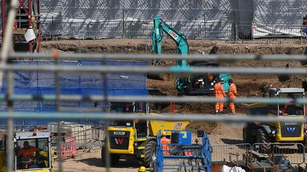 The construction site for HS2's new Euston station. Picture: Victoria Jones/PA