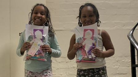Children from the Peckwater Estate happy with their packs. Picture: NW5 Project