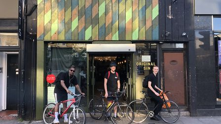 Cyclists set to deliver meals for Perch N16. Picture: Perch N16