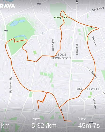 A Stoke Newington and Shacklewell chicken. Picture: Strava